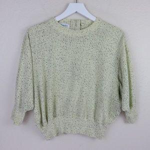 Vintage Speckled Crop Hipster Dolman Sweatshirt